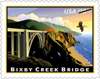 Bixby Creek Bridge Express Mail Single