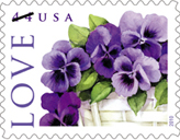 Pansies in a Basket stamp
