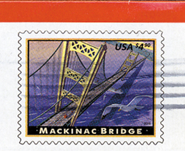 Mackinac Bridge Stamp