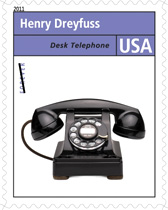 2011 Pioneers of Industrial Design Forever Stamp, Hentry Dreyfuss Desk Phone