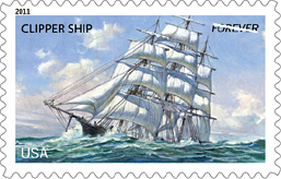 2011 U.S. Merchant Marine Forever Stamp, Clipper Ship
