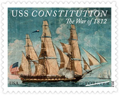War of 1812, USS Constitution 2012 U. S. Postage Stamp