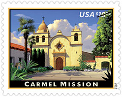 Carmel Mission Stamp 2012