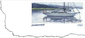 Sailboat Forever Stamped Card 2012, 29 cents