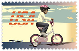 Bicycling 2012 U. S. Postage Stamp