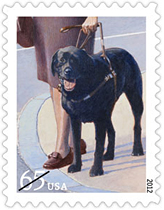 Dogs at Work, 65 cent stamps pay the First Class two-ounce rate