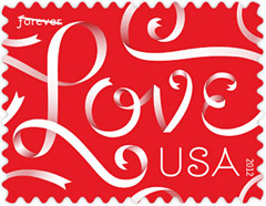Love Ribbons 2012 U.S. Postage Stamp