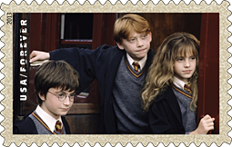 Harry Potter Stamp 2013, Harry, Ron, Hermione