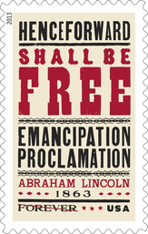 Emancipation Proclamation forever stamp, 2013