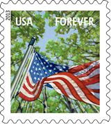A Flag For All Seasons Forever Stamp, 2013