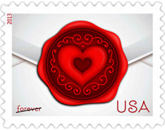 Sealed with Love stamp 2013