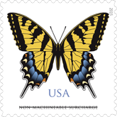 Eastern Tiger Swallowtail Butterfly Stamp, USPS 2015