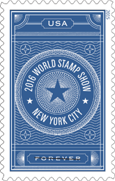 2016 World Stamp Show New York City Forever Stamp - USPS 2015