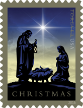 USPS Christmas Forever Stamps 2016