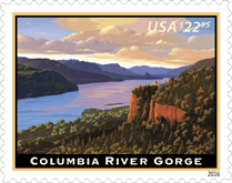 USPS Columbia River Gorge Express Stamp 2016