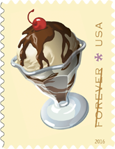USPS Soda Fountain Forever Stamps 2016