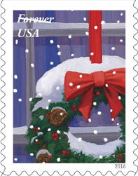 USPS Holiday Windows Forever Stamps 2016