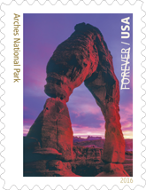 USPS 2016 Arches National Park Stamp