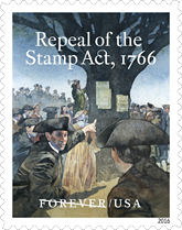 Repeal of the Stamp Act Stamp, USPS 2016