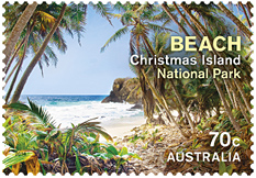 Stamps of Christmas Island 2014  - Beach, Australia Post