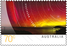 Australia Souther Lights Stamp 70 cents 2014