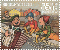 Iceland Town Festivals II stamps 2014, Iceland's Herring Adventure Stamp- WOPA World Online Philatelic Agency