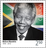 Canada Post Nelson Mandela stamp issue 2015