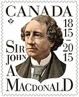 Canada Post: Sir John A. Macdonald stamp issue 2015