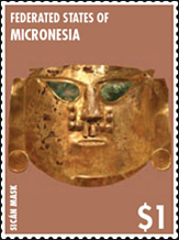 Sican Mask Stamp - Federated States of Micronesia 2015 stamp issue