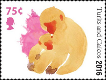 Lunar New Year - Year of the Monkey Stamp -  Turks and Caicos