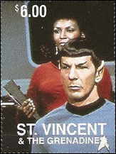Leonard Nimoy Stamp - St. Vincent & The Grenadines
