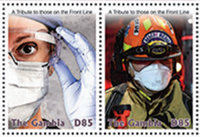 Covid-19 A Tribute to those on the Front Line, Postage Stamps - The Gambia, 2020