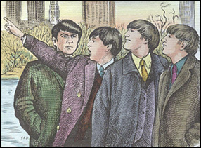 Beatles, section of First Day Cover