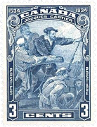 Canada Jacques Cartier stamp, 3 cents