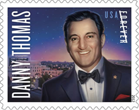 Danny Thomas Stamp issue on February 16, 2012, United States Postal Service, USPS