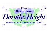 USPS Dorothy Height Cancel 2017