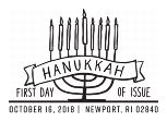 Hanukkah First Day of Issue 2018 - Black and White Pictorial