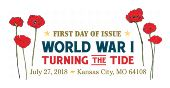 World War 1, Turning the Tide Color Cancel, USPS 2018