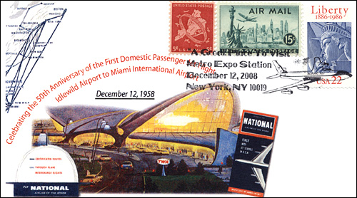 MetroExpo NY, 1st Domestic Passenger Flight, Full-Color Cover