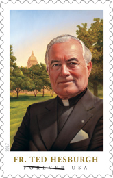 USPS Father Theodore Hesburgh stamp 2017