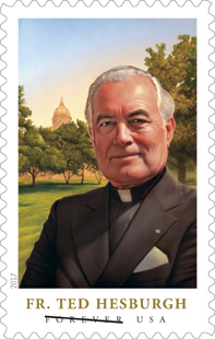 Father Hesburgh Stamp 2017 USPS