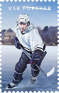 Hockey Stamps, USPS History of Hockey Stamps 2017, Joint Hockey stamp issue with Canada