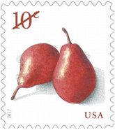 USPS Pears stamp, 2017