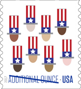 USPS Uncle Sam's Hat stamp 2017