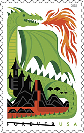 Dragons Stamps, USPS 2018