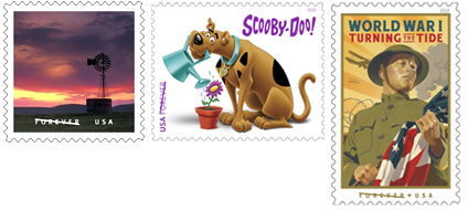 USPS July Stamp Release  2018 O Beautiful Stamp, Scooby-Doo Stamp, World War I: Turning the Tide Stamp