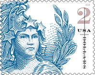 USPS Two dollar Statue of Freedom Stamp 2018