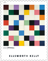 Ellsworth Kelly Forever Stamp, USPS 2019