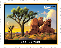 USPS - Joshua Tree Stamp, USPS - Priority Mail Stamp
