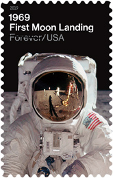 USPS First Moon Landing Stamp 2019
